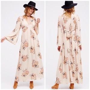 NWOT Free People Floral Laurel Maxi Dress